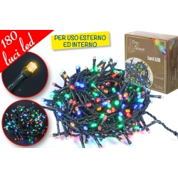 CATENA LUM. PER ESTERNI 180LED MULTICOL