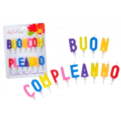 "SET CANDELE LETTERE ""BUON COMPLEANNO"""