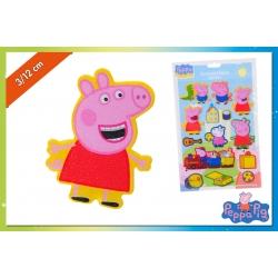 SET STICKER 3D PEPPA PIG