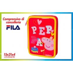 ASTUCCIO C/2 ZIP C/ACCESSORI PEPPA PIG G