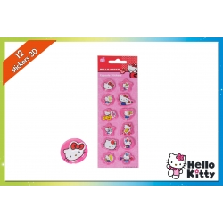 SET 12 CAPSULE STICKERS H.KITTY IN DISP