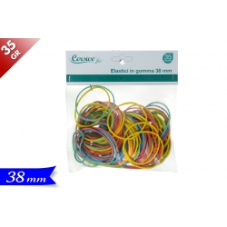 ELASTICI IN GOMMA COLOR. 38MM/35GR