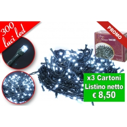 CATENA LUMINOSA 300 LED GHIACCIO
