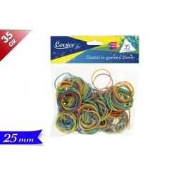 ELASTICI IN GOMMA COLOR. 25MM/35GR